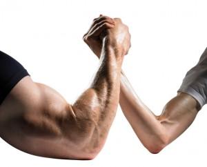 gespierde arm vs slappe arm